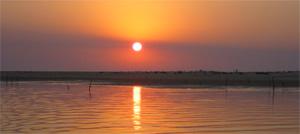 un trés beau coucher de soleil