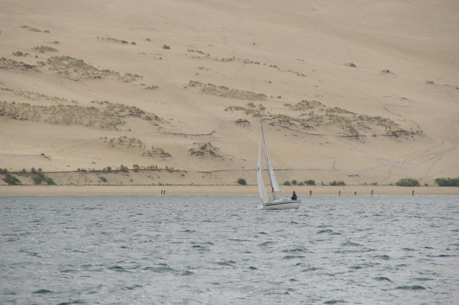 Petit Iboga au pied de la dune du Pyla, sous la conduite de Lucile.