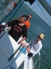 Concentration. Roland, Jean-Yves et le Patron, sous l'objectif de Liza