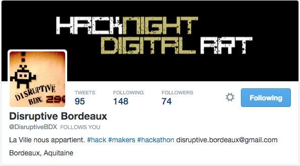 Twitter Disruptive Bordeaux