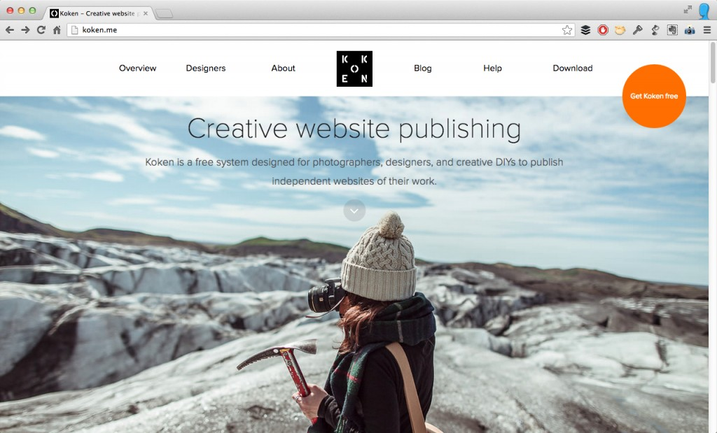 Koken - Creative website publishing