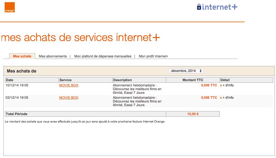 Arnaque internet plus orange : Mon compte