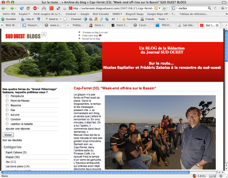 Blog on the beach dans la Presse