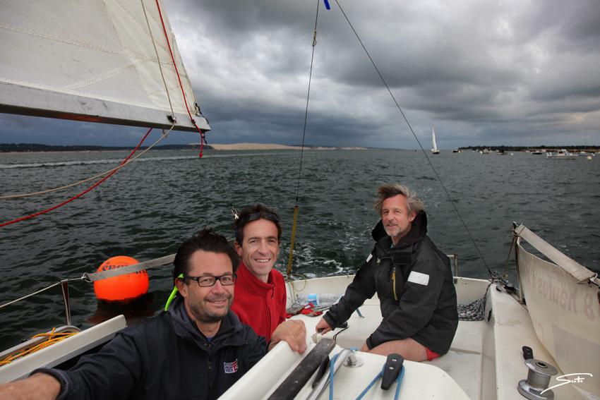 L'équipage de l'Iboga aux 18 heures d'Arcachon, sauf le photographe : Stéphane Scotto