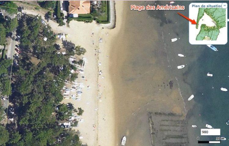 plage des américains - vue aérienne