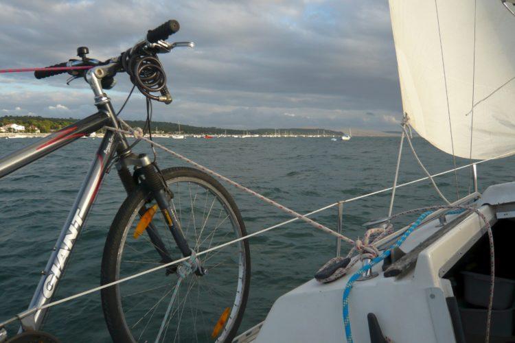 Ferret - Moulleau vélo à bord - côte du Pyla et la dune