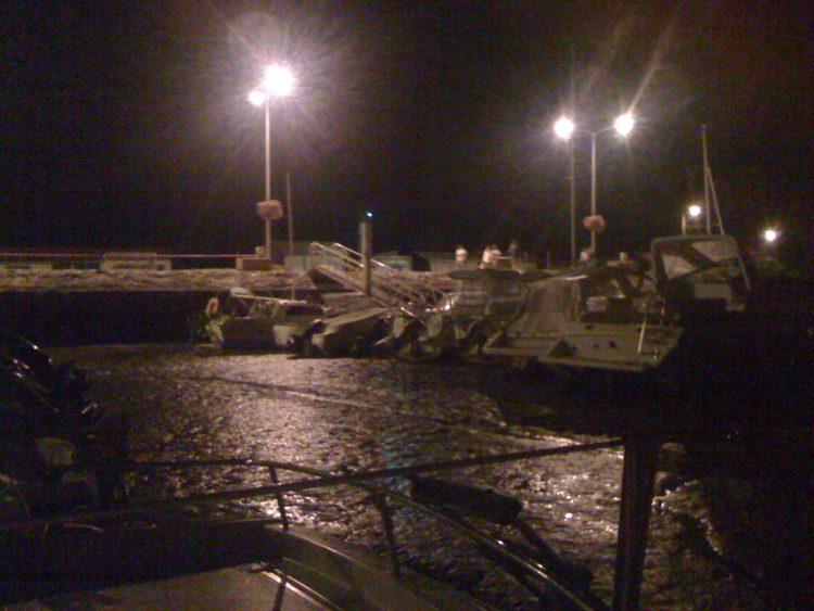Port d'Audenge après la fermeture de la buvette