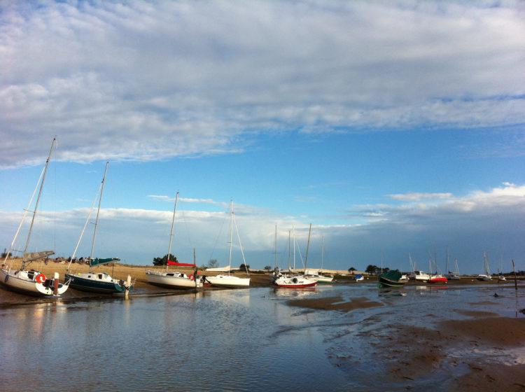La flotte beachée au Mimbeau