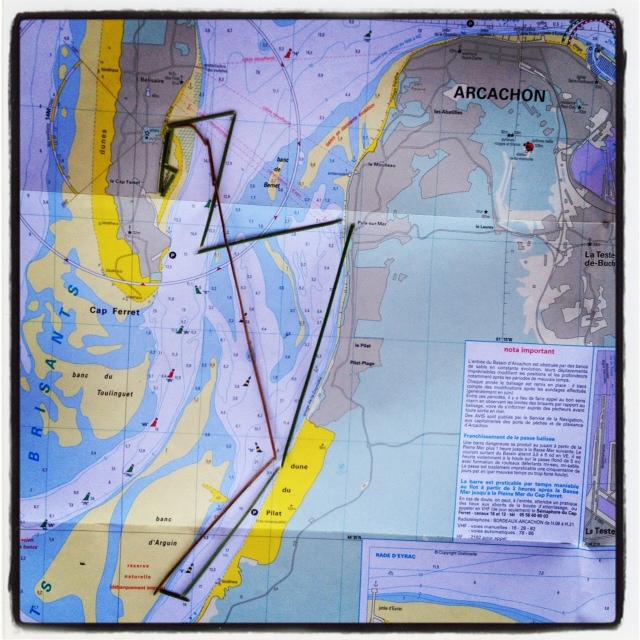 """la trace GPS """"grépins"""" de août 2012"""