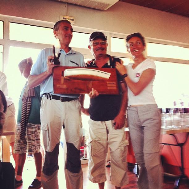 Laurent Berton et l'équipage de Bonaire, emporte le trophée 2012 des Jouët 680 !