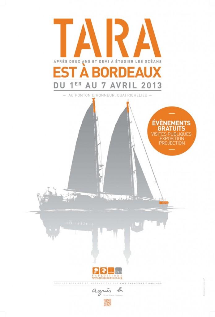 Affiche Tara à Bordeaux 2013