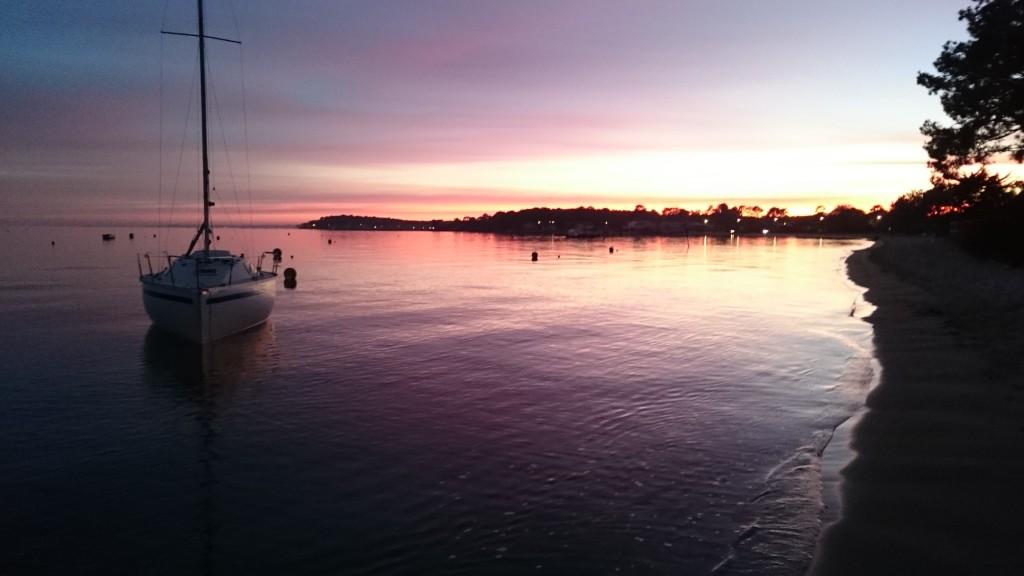 Le fameux coucher de soleil de Claouey