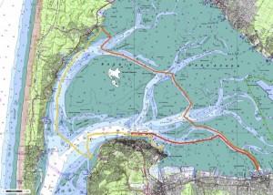 Le parcours (suggestion) découverte du bassin du 21 août 2013