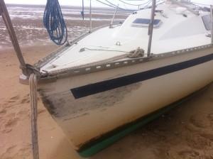 La trace du bateau qui est venu esquinter le mien