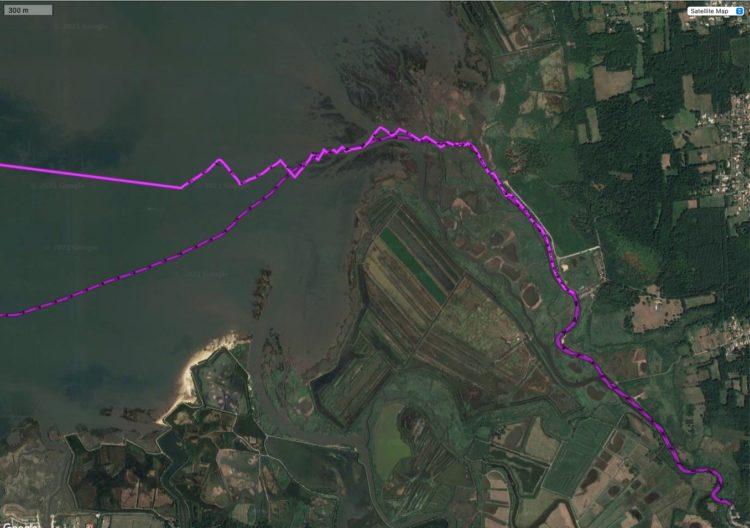 La marée du 5 août 2021 zoom sur la Leyre