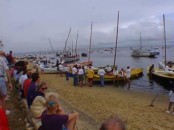 Pinasses sur la plage - 1eres festivoiles de Claouey