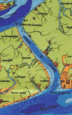 Extrait de la carte de Bouchet