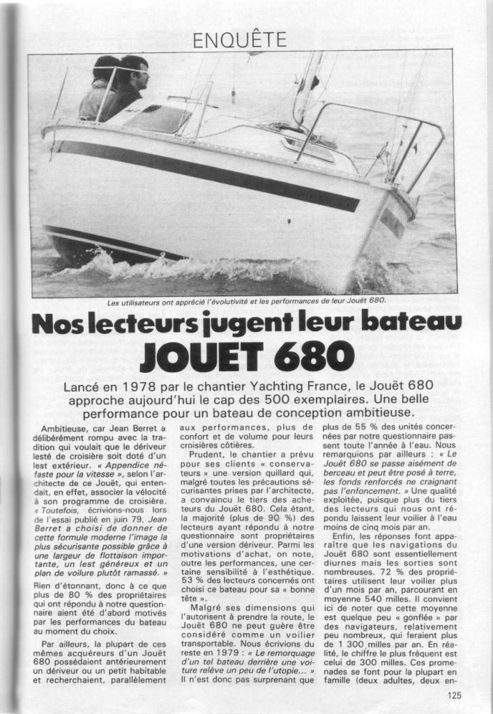 Article revue Bateaux n° 311, avril 1984