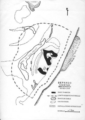 Périmètre 1986 de la réserve naturelle d'Arguin