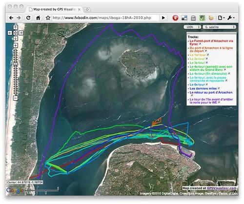 la trace des 18 heures d'arcachon 2010 sur l'Iboga