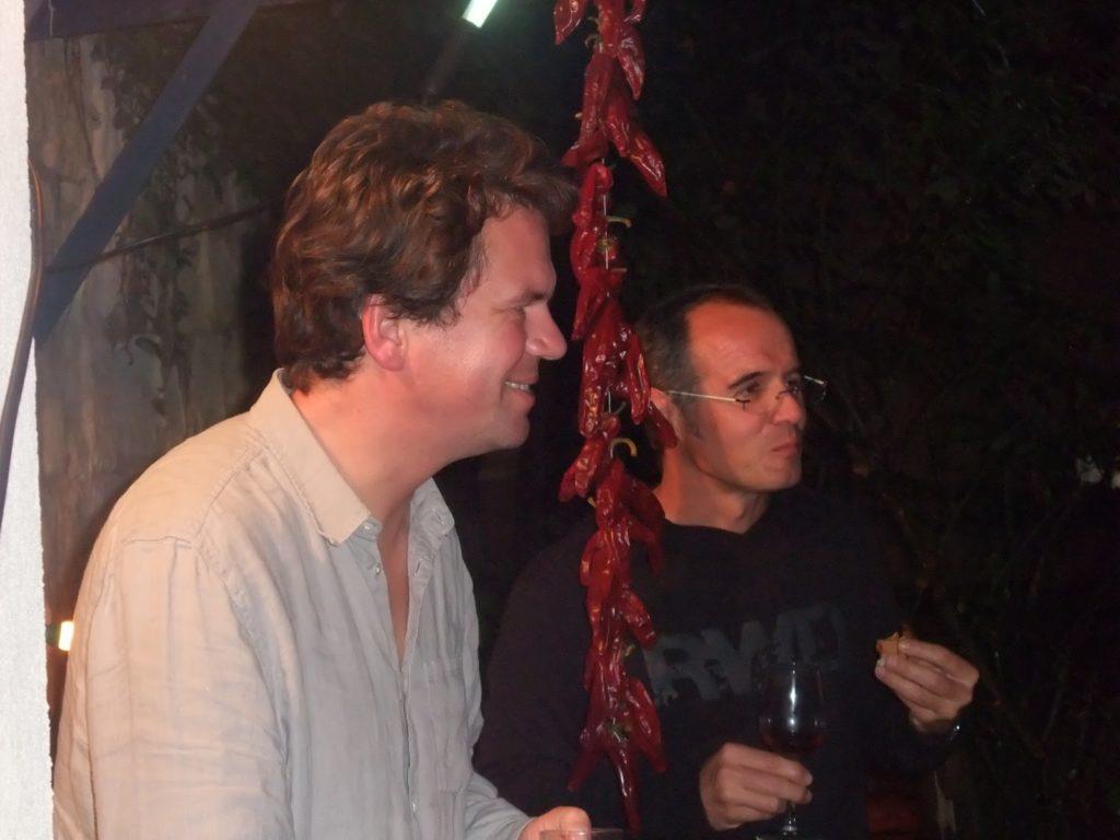 Edouard et Franck et espelette