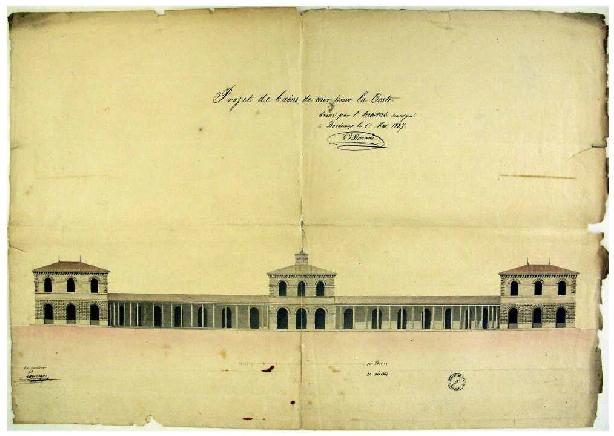 Projet d'établissements de bains de mer allée de la Chapelle à Arcachon 1827