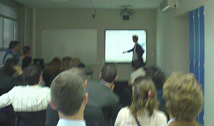 Lancement du site devant les auditeurs et diplômés de l'ICH Bordeaux Aquitaine, 26 juin 2007