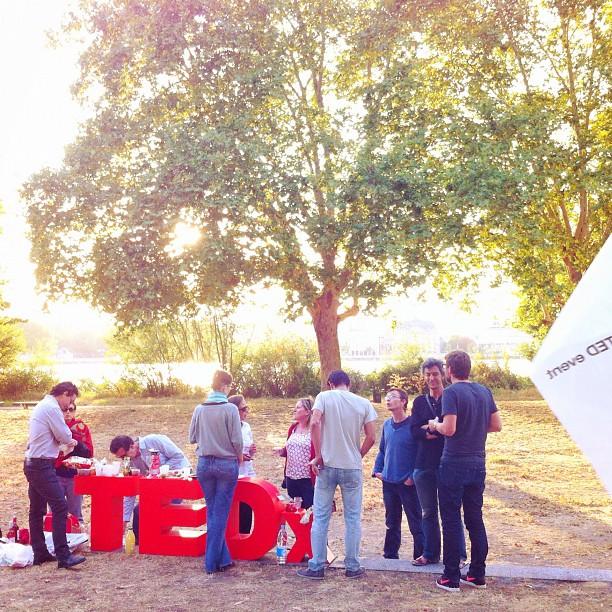 La team #TEDxBordeaux en apéro-pique nique de rentrée