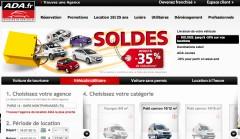 le site Web ADA Location https://www.ada.fr/