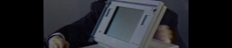 Présentation du Macintosh portable 1989