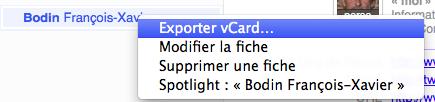 Exporter votre propre fiche au format vCard